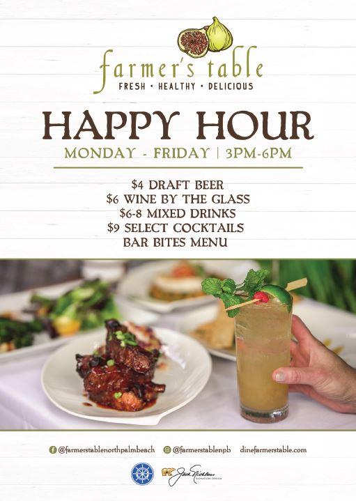 Happy Hour at Farmer's Table North Palm Beach!